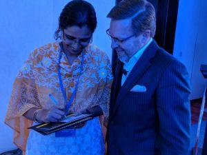 Vijaya with Verne Harnish
